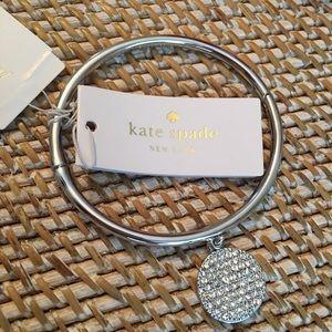 kate spade Jewelry - Kate Spade twinkling pave idiom bangle. New.